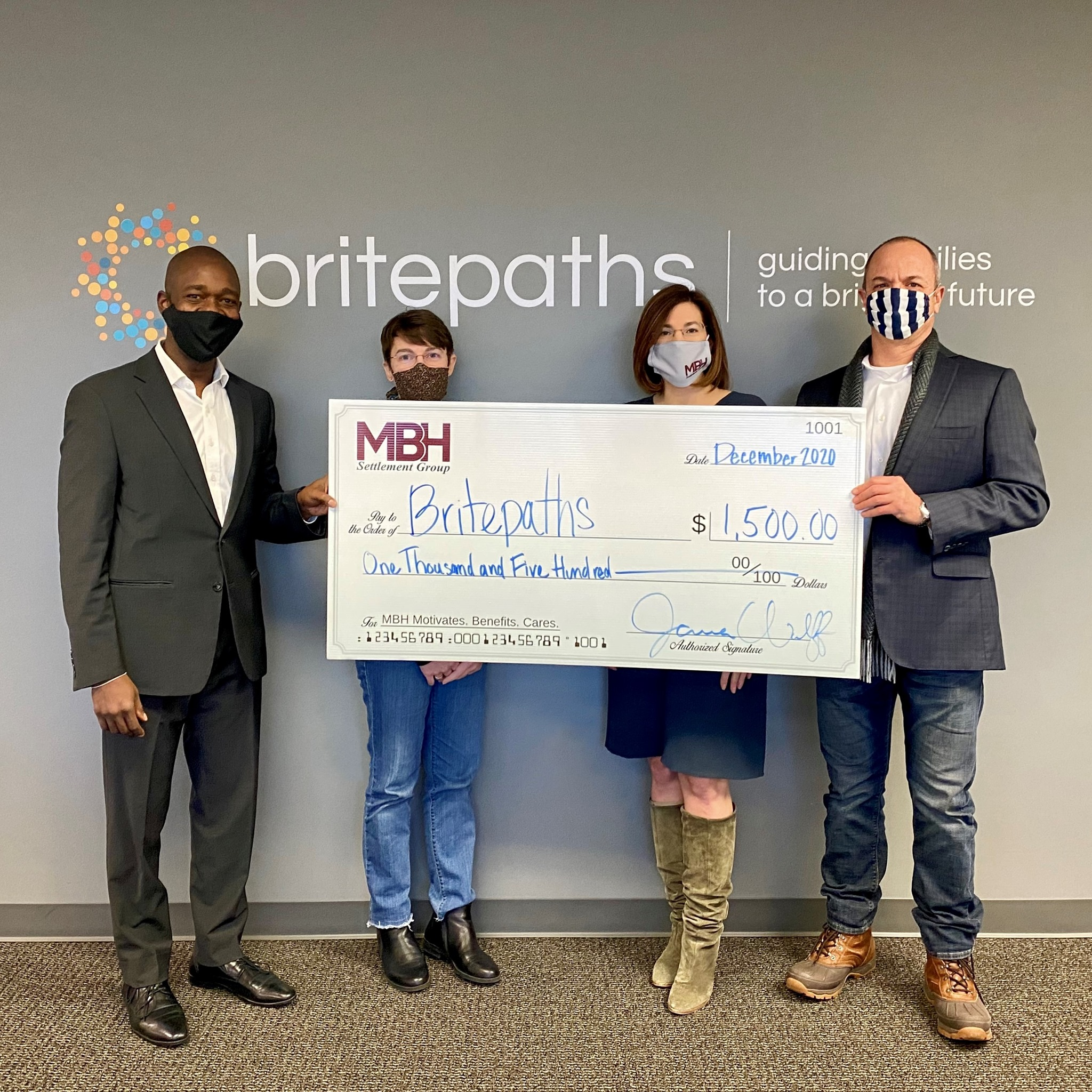 MBH Donates A Percentage of Every Close to BritePaths